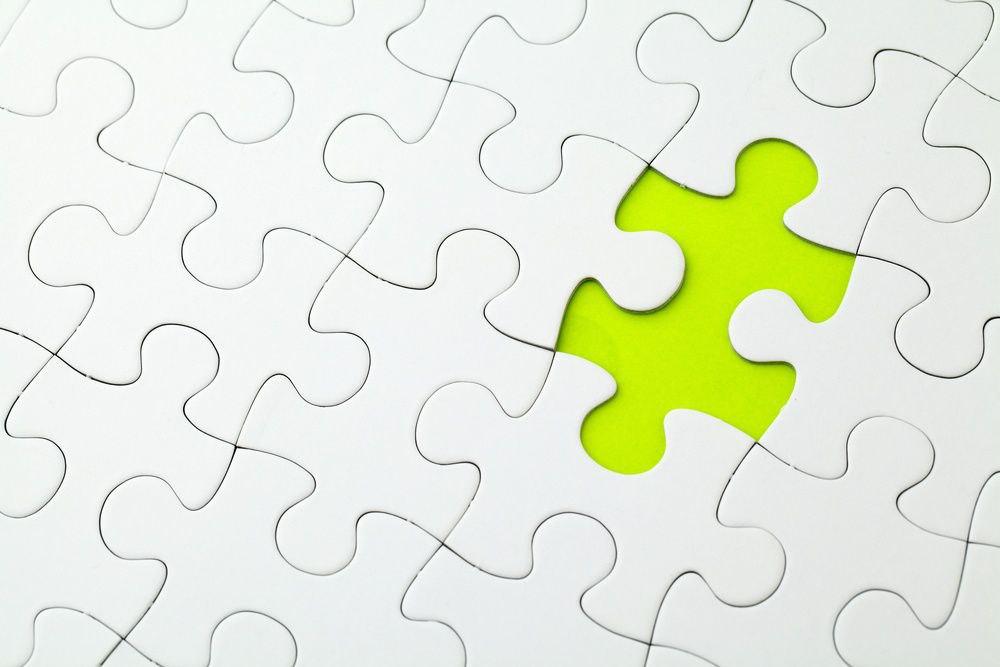 Missing puzzle piece unique different
