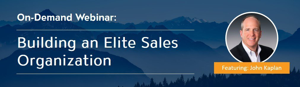 Building an Elite Sales Organization Banner