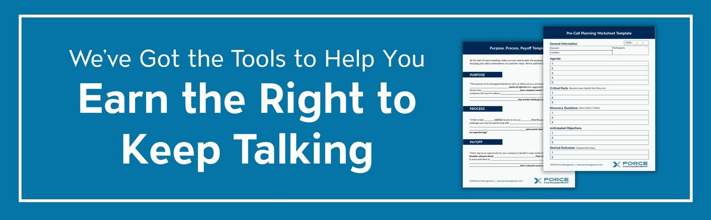 Earn the Right to Keep Talking Banner