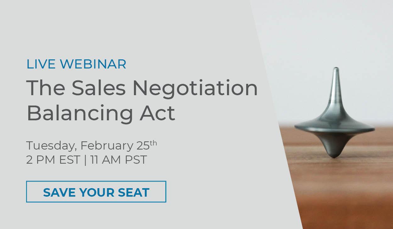 Negotiation Balancing Act Webinar
