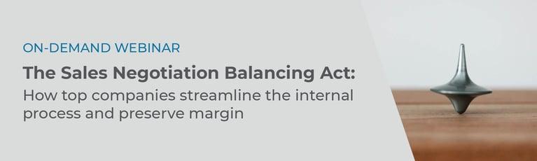 On-Demand Negotiation Balancing Act Webinar Banner Graphic