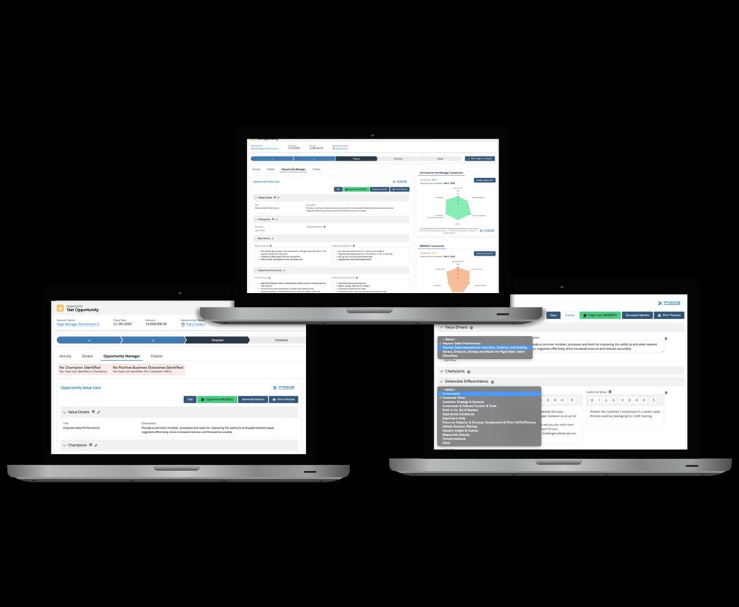 SFDC App - Screens Option 4